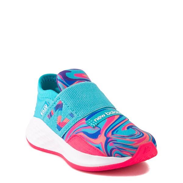 alternate view New Balance Fresh Foam Roav Slip On Athletic Shoe - Baby / Toddler - Aqua / SwirlALT5