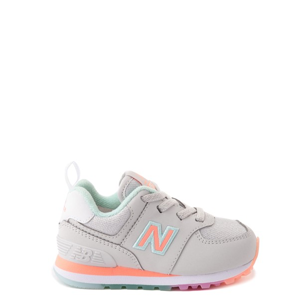 Main view of New Balance 574 Athletic Shoe - Baby / Toddler - Gray / Multicolor