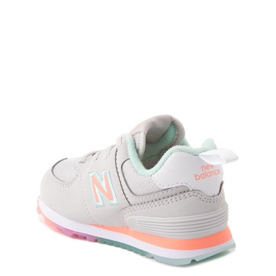 Alternate view of New Balance 574 Athletic Shoe - Baby / Toddler - Gray / Multicolor