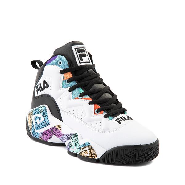 alternate view Fila MB '90s Athletic Shoe - Big Kid - White / MulticolorALT5