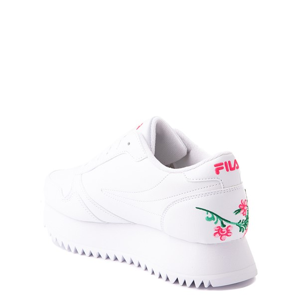 alternate view Fila Orbit Floral Athletic Shoe - Big Kid - WhiteALT1