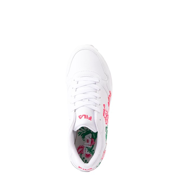 alternate view Fila Orbit Floral Athletic Shoe - Big Kid - WhiteALT2
