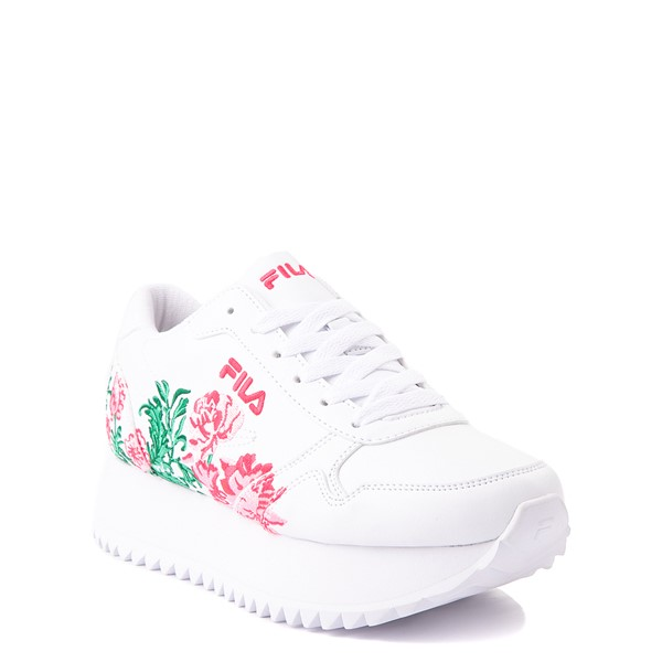 alternate view Fila Orbit Floral Athletic Shoe - Big Kid - WhiteALT5