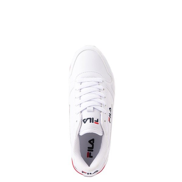 alternate view Fila Orbit Stripe Athletic Shoe - Big Kid - White / Navy / RedALT2