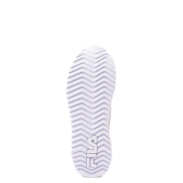 alternate view Fila Orbit Stripe Athletic Shoe - Big Kid - White / Navy / RedALT3