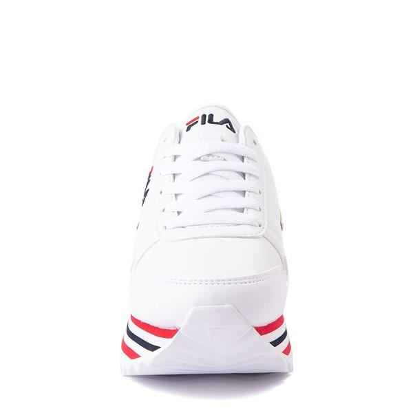 alternate view Fila Orbit Stripe Athletic Shoe - Big Kid - White / Navy / RedALT4