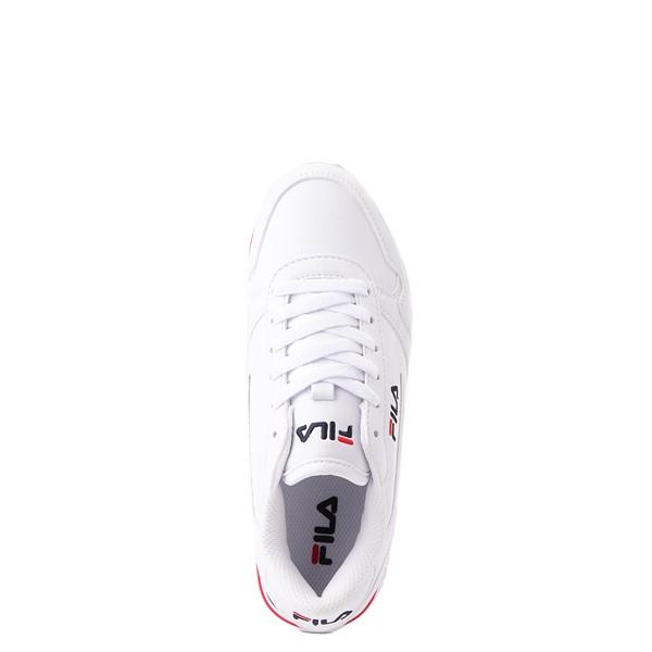 alternate view Fila Orbit Stripe Athletic Shoe - Big Kid - White / Navy / RedALT4B