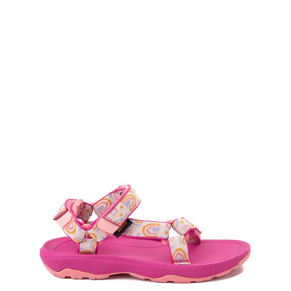 Main view of Teva Hurricane XLT2 Sandal - Little Kid - Pink / Rainbows