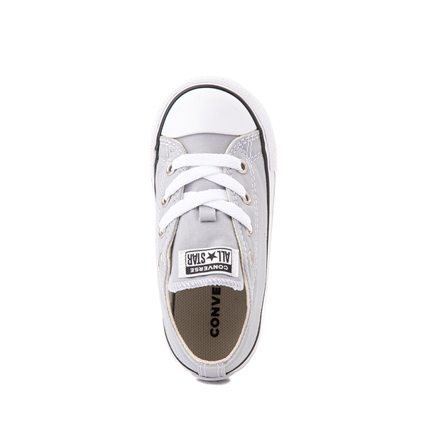 alternate view Converse Chuck Taylor All Star Lo Sneaker - Baby / Toddler - Wolf GrayALT2
