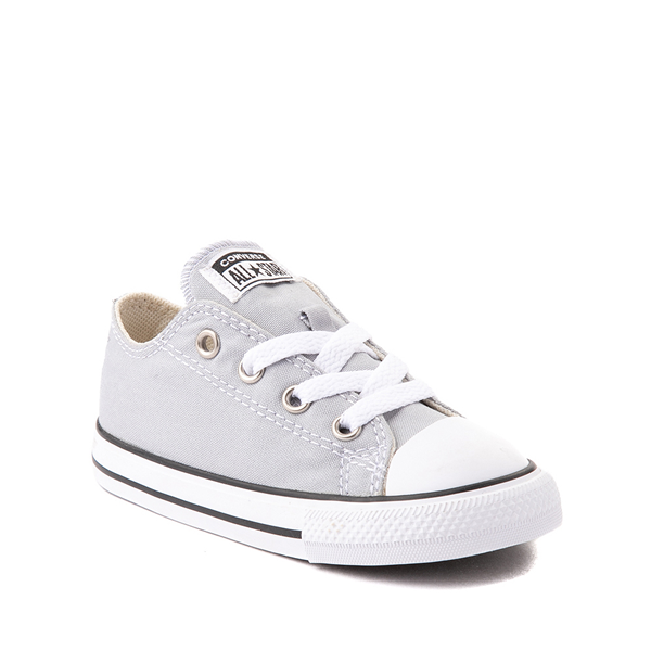 alternate view Converse Chuck Taylor All Star Lo Sneaker - Baby / Toddler - Wolf GrayALT5