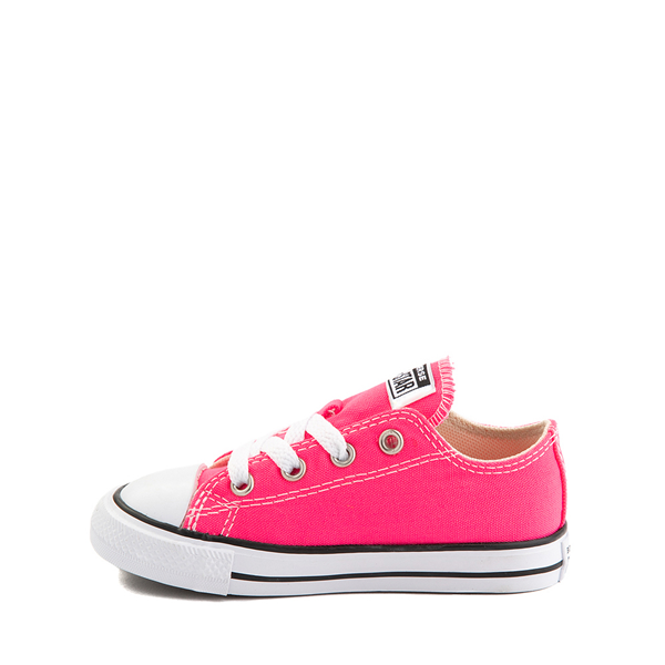 alternate view Converse Chuck Taylor All Star Lo Sneaker - Baby / Toddler - Hyper PinkALT1