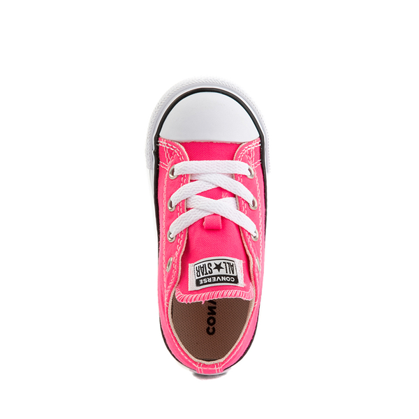 alternate view Converse Chuck Taylor All Star Lo Sneaker - Baby / Toddler - Hyper PinkALT2