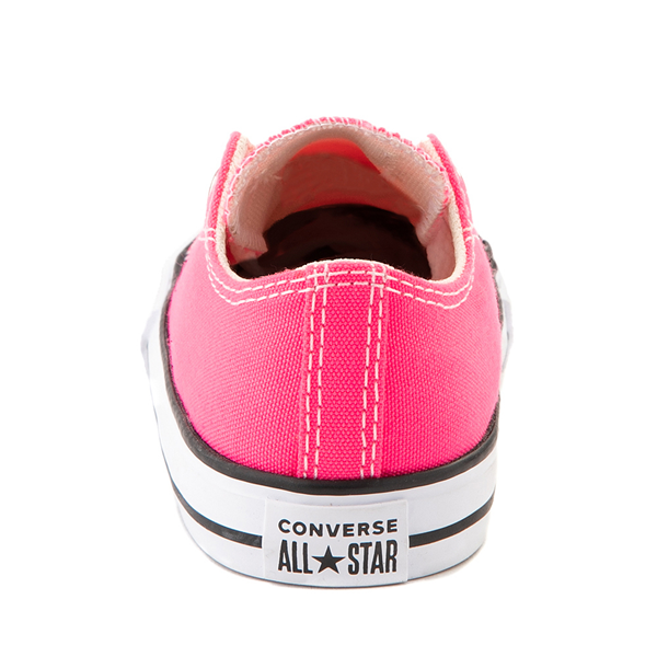 alternate view Converse Chuck Taylor All Star Lo Sneaker - Baby / Toddler - Hyper PinkALT4