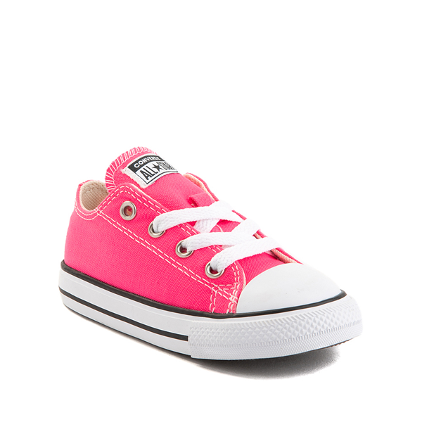 alternate view Converse Chuck Taylor All Star Lo Sneaker - Baby / Toddler - Hyper PinkALT5
