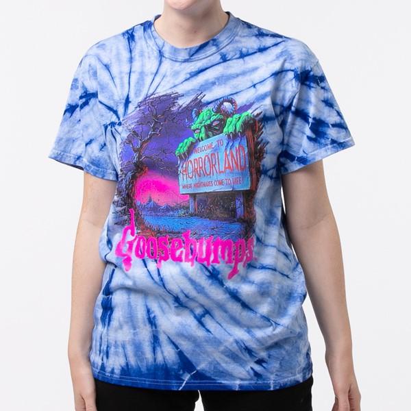 alternate view Womens Goosebumps Boyfriend Tee - Blue Tie DyeALT1B