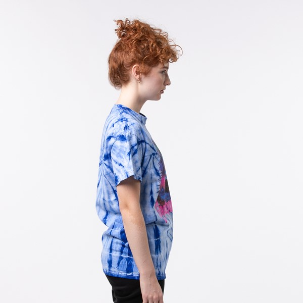alternate view Womens Goosebumps Boyfriend Tee - Blue Tie DyeALT2