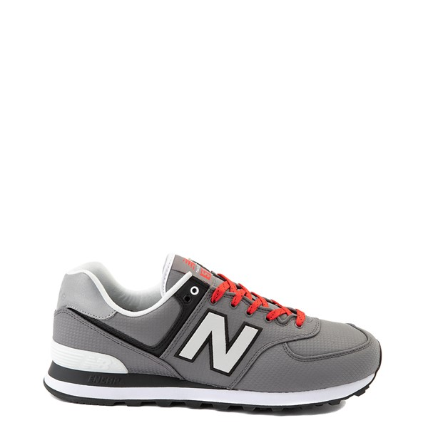 Main view of Mens New Balance 574 Athletic Shoe - Gray / Red