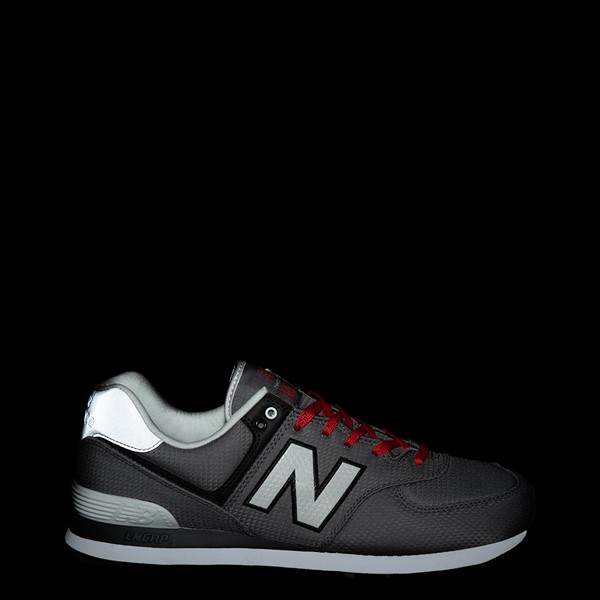 alternate view Mens New Balance 574 Athletic Shoe - Gray / RedALT1