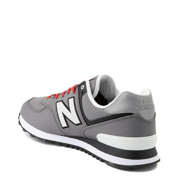 alternate view Mens New Balance 574 Athletic Shoe - Gray / RedALT1B