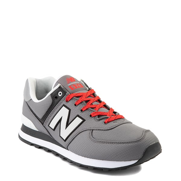 alternate view Mens New Balance 574 Athletic Shoe - Gray / RedALT5