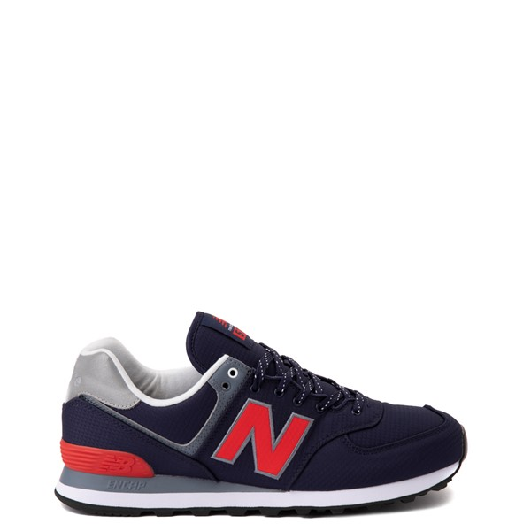 Main view of Mens New Balance 574 Athletic Shoe - Navy / Red