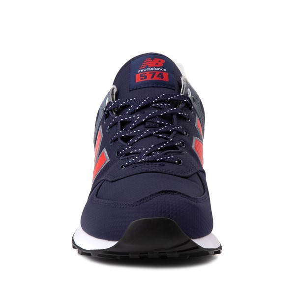 alternate view Mens New Balance 574 Athletic Shoe - Navy / RedALT4