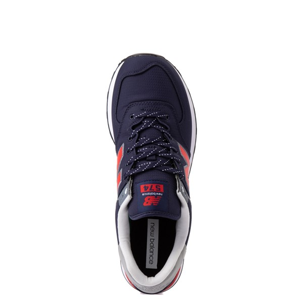 alternate view Mens New Balance 574 Athletic Shoe - Navy / RedALT4B