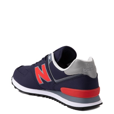 Alternate view of Mens New Balance 574 Athletic Shoe - Navy / Red