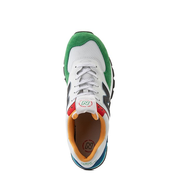 alternate view Mens New Balance 574 Athletic Shoe - Rugged White / Varsity GreenALT2