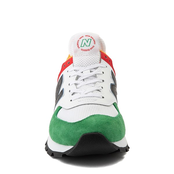 alternate view Mens New Balance 574 Athletic Shoe - Rugged White / Varsity GreenALT4