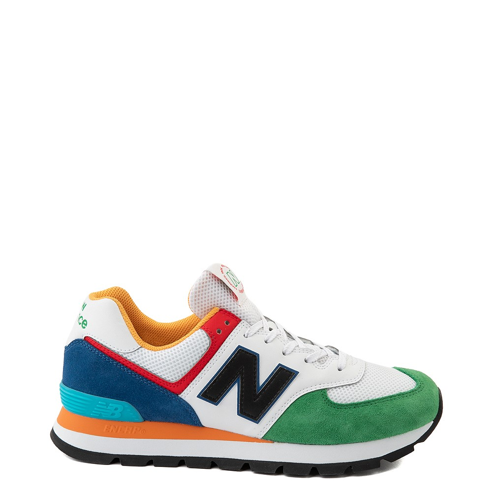 Mens New Balance 574 Athletic Shoe - Rugged White / Varsity Green