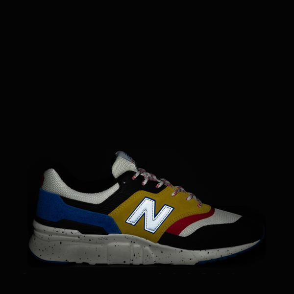 alternate view Mens New Balance 997H Athletic Shoe - White / Black / YellowALT1
