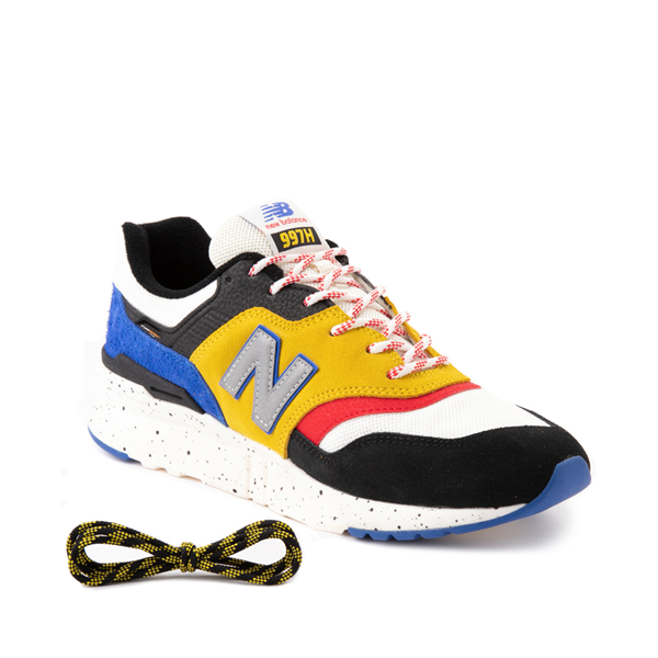 alternate view Mens New Balance 997H Athletic Shoe - White / Black / YellowALT1B