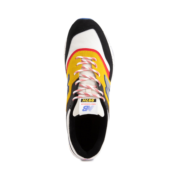 alternate view Mens New Balance 997H Athletic Shoe - White / Black / YellowALT2