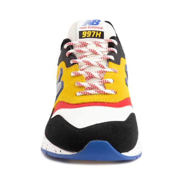 alternate view Mens New Balance 997H Athletic Shoe - White / Black / YellowALT4