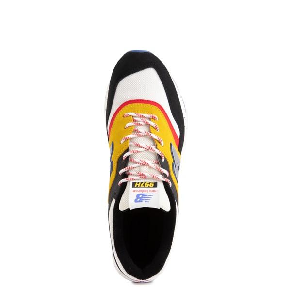 alternate view Mens New Balance 997H Athletic Shoe - White / Black / YellowALT4B