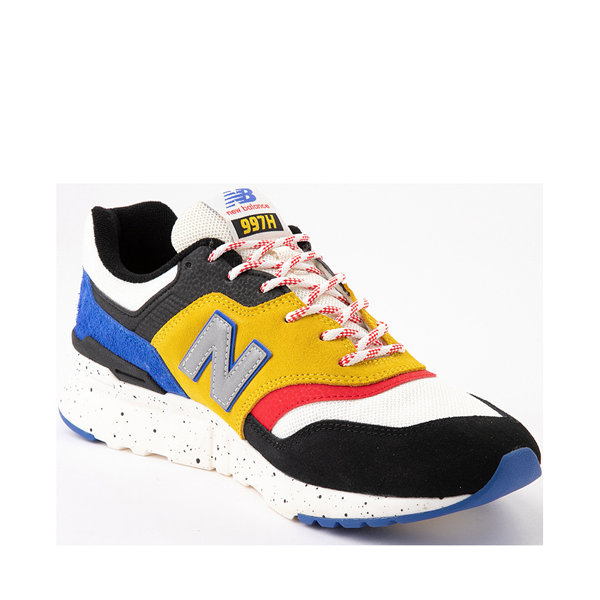 alternate view Mens New Balance 997H Athletic Shoe - White / Black / YellowALT5