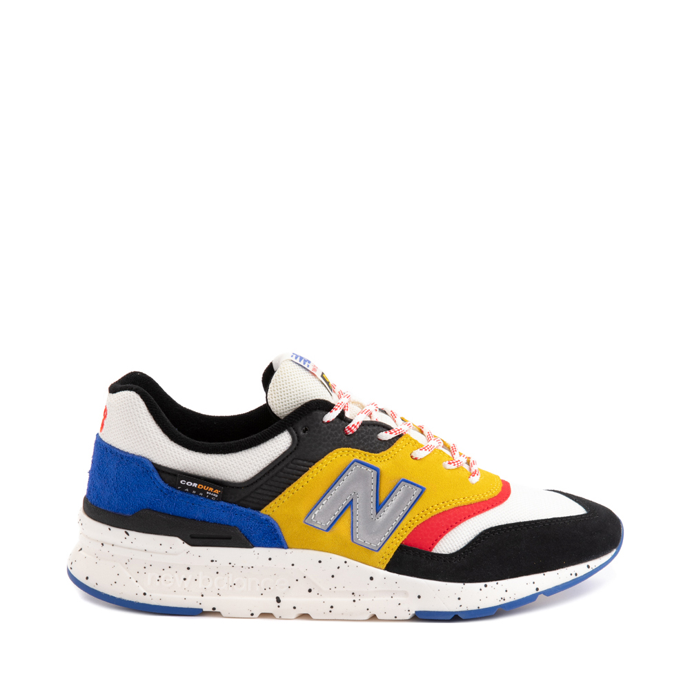 Mens New Balance 997H Athletic Shoe - White / Black / Yellow