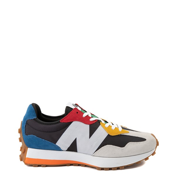 Main view of Mens New Balance 327 Athletic Shoe - White / Multicolor