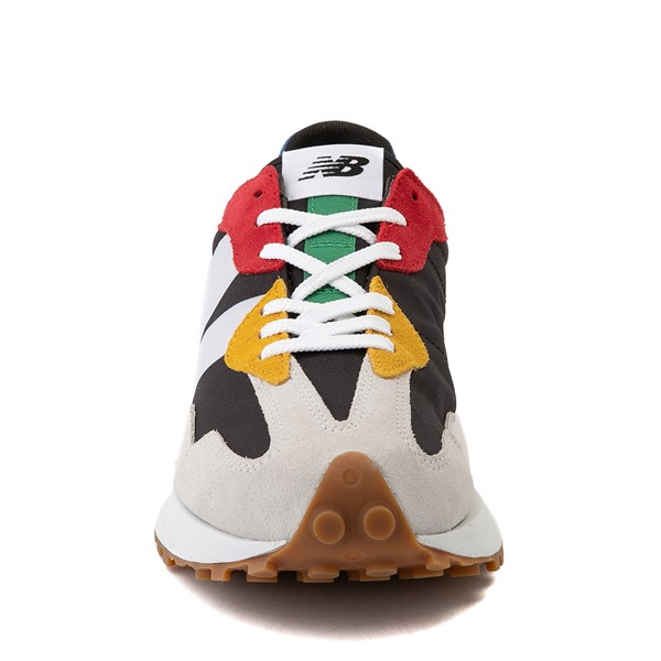 alternate view Mens New Balance 327 Athletic Shoe - White / MulticolorALT4