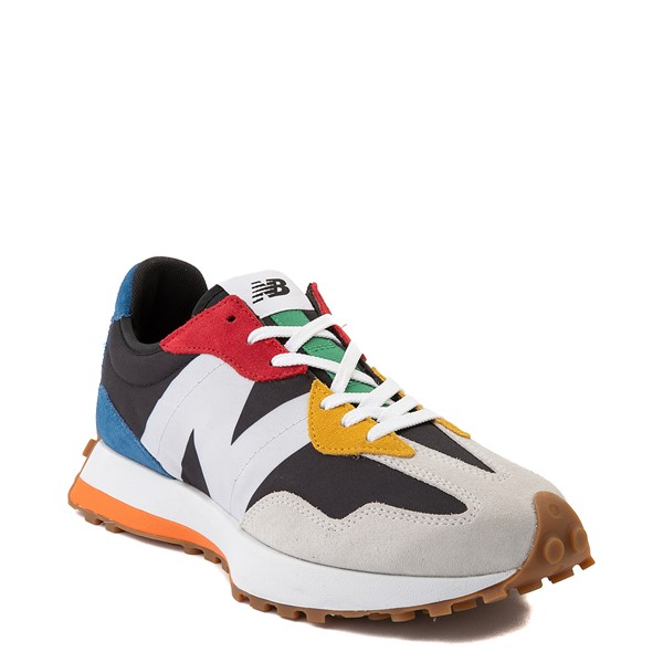 alternate view Mens New Balance 327 Athletic Shoe - White / MulticolorALT5