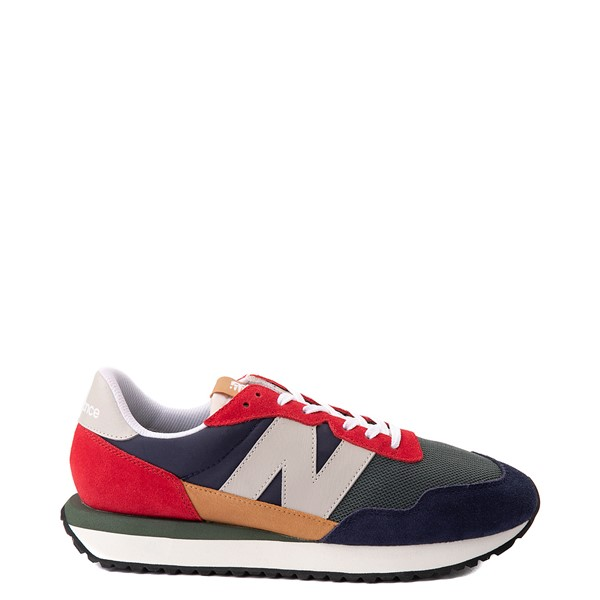 Main view of Mens New Balance 237 Athletic Shoe - Navy / Green / Red
