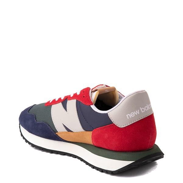 alternate view Mens New Balance 237 Athletic Shoe - Navy / Green / RedALT1