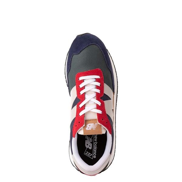 alternate view Mens New Balance 237 Athletic Shoe - Navy / Green / RedALT2