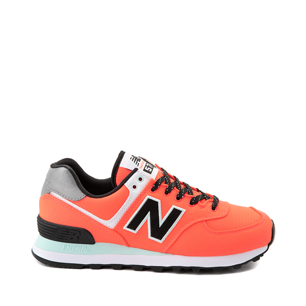 Womens New Balance 574 Athletic Shoe - Vivid Coral / Black