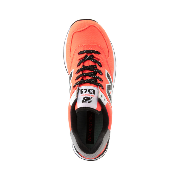 alternate view Womens New Balance 574 Athletic Shoe - Vivid Coral / BlackALT2
