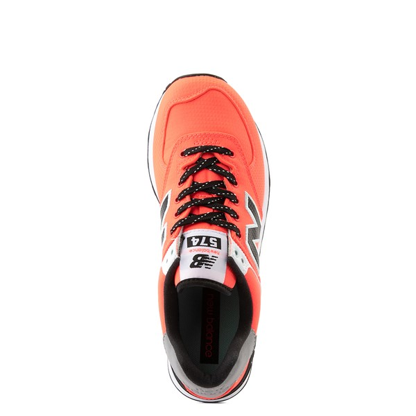 alternate view Womens New Balance 574 Athletic Shoe - Vivid Coral / BlackALT4B