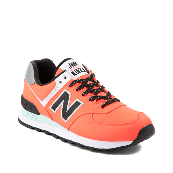 alternate view Womens New Balance 574 Athletic Shoe - Vivid Coral / BlackALT5