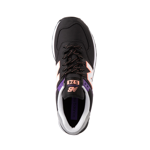 alternate view Womens New Balance 574 Athletic Shoe - Black / Green / PurpleALT2