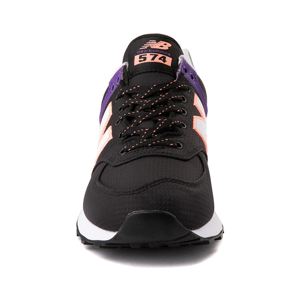 alternate view Womens New Balance 574 Athletic Shoe - Black / Green / PurpleALT4
